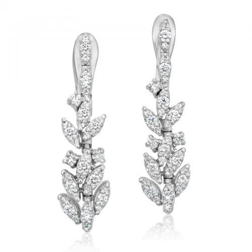 עגילי יהלומים ED017
