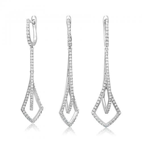 עגילי יהלומים ED016