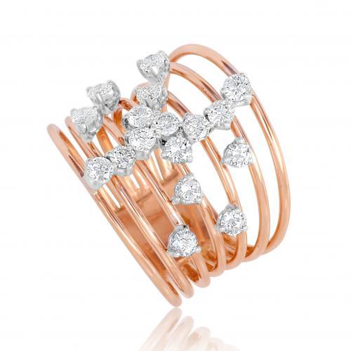 טבעת יהלומים קשתות