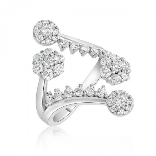 טבעת יהלומים מעוצבת RDR019