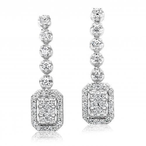 עגילי יהלומים ED010