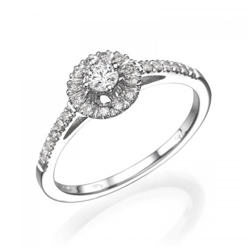 טבעת יהלום אירוסין -  ניס