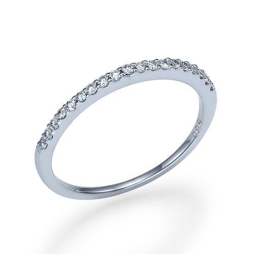 טבעת יהלומים שורה