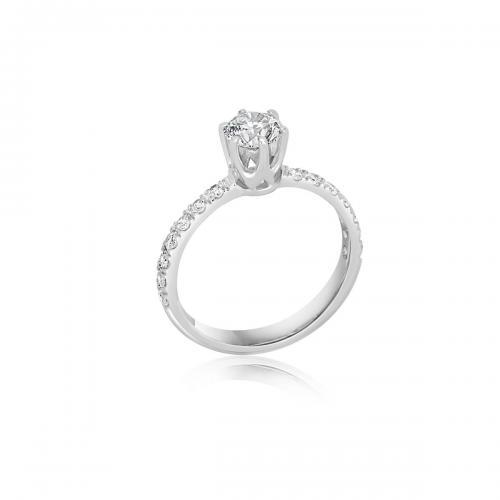 טבעת יהלום אירוסין A026