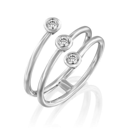 טבעת יהלומים מעוצבת RDR030