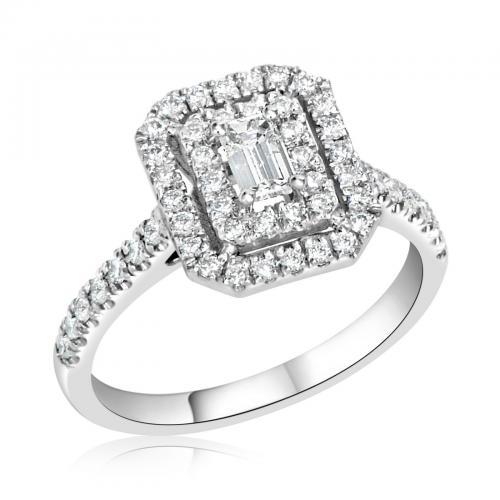 טבעת יהלום אירוסין A024