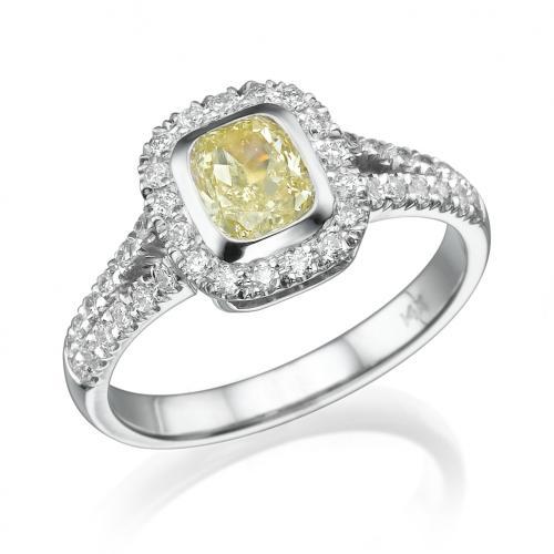 טבעת יהלום קושון