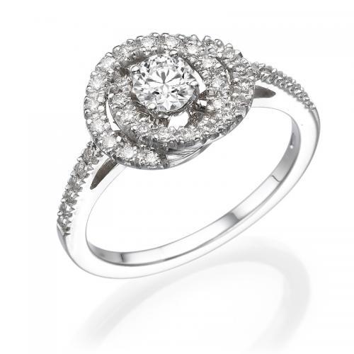 טבעת יהלום אירוסין - כלנית