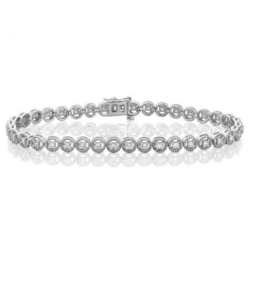 צמיד טניס יהלומים bd014
