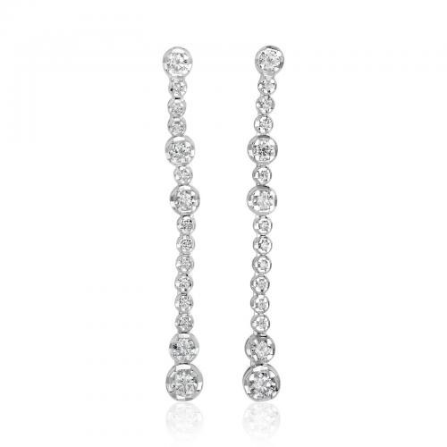 עגילי יהלומים ED019