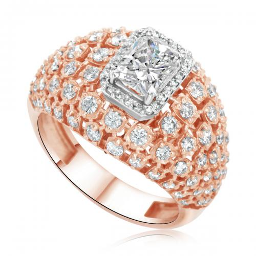 טבעת יהלומים מעוצבת איטליה