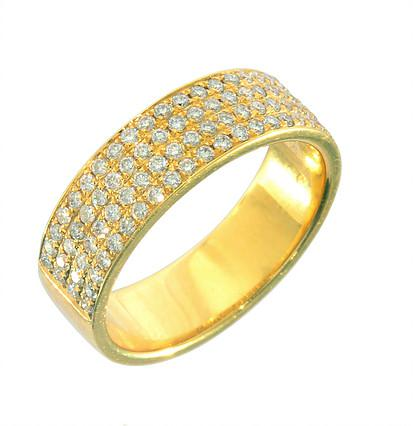 טבעת פווה יהלומים צהובה