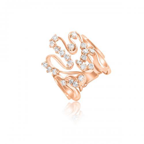 טבעת יהלומים מעוצבת RDR024