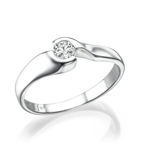 טבעת יהלום אירוסין -סוויט לבן