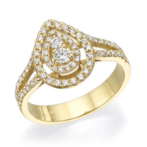 טבעת יהלומים מעוצבת RDR013