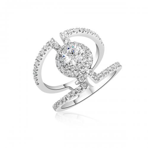 טבעת יהלומים מעוצבת RDR020