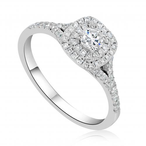 טבעת יהלום אירוסין A012