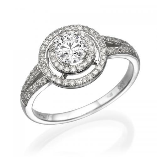 טבעת יהלום אירוסין- בורדו