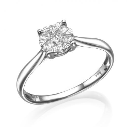 טבעת יהלום אירוסין -כתר מלכות