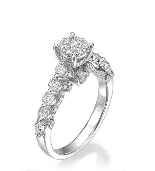 טבעת יהלום אירוסין A017