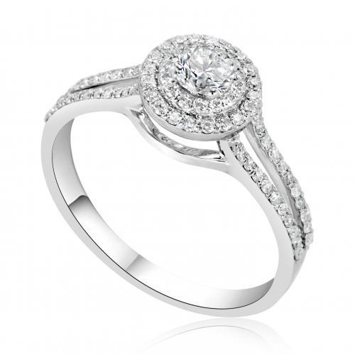 טבעת יהלום אירוסין A008