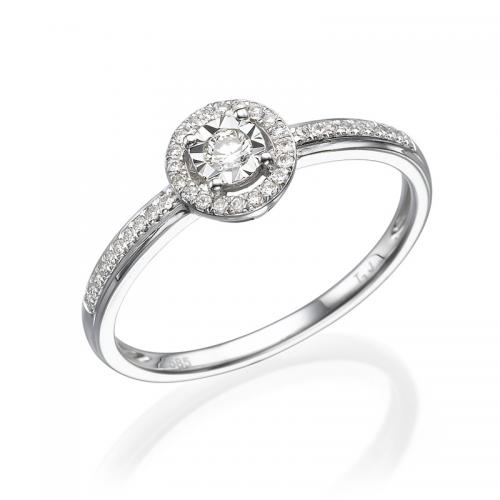 טבעת יהלום אירוסין -פיזה