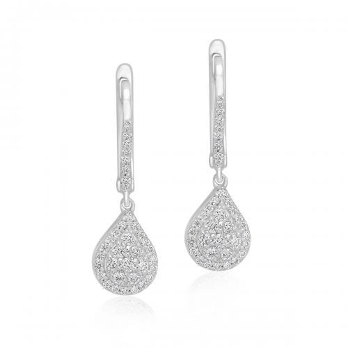 עגילי יהלומים ED025
