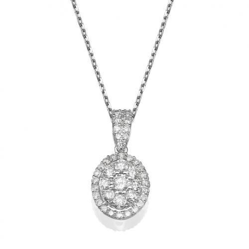 תליון יהלומים - צורת אוול