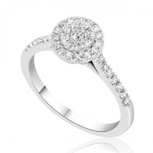 טבעת יהלום אירוסין A014