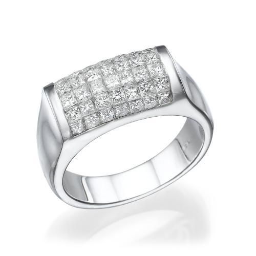 טבעת יהלום בשיבוץ מיוחד