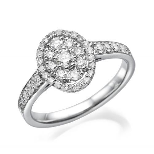 טבעת יהלום בצורת אוול