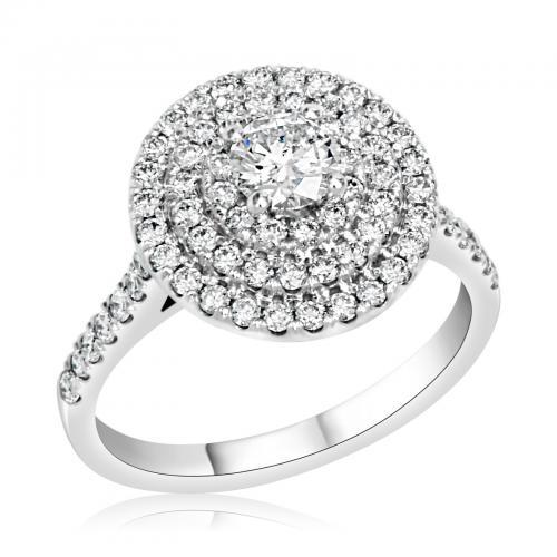 טבעת יהלום אירוסין A023
