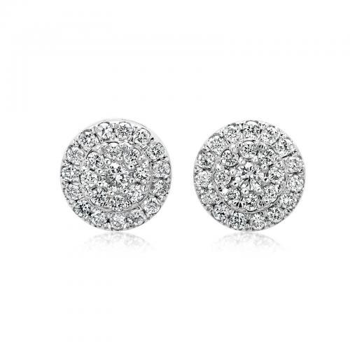 עגילי יהלומים ED014