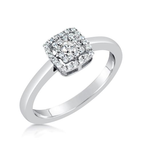 טבעת יהלום בעיצוב קושון קטן