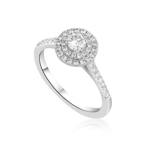טבעת יהלום ונציה מוקטנת