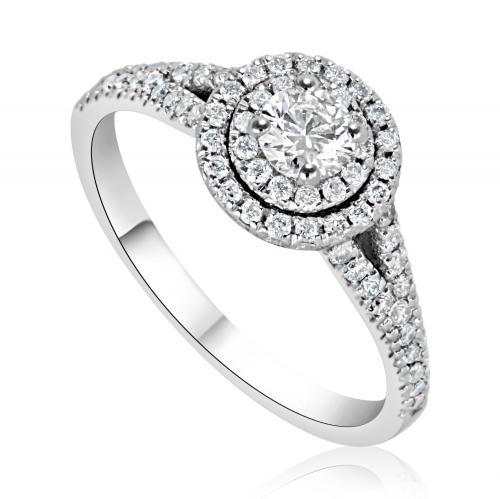 טבעת יהלום אירוסין A007