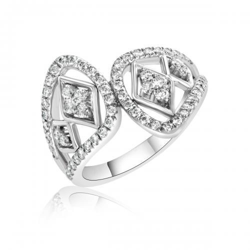 טבעת יהלומים מעוצבת RDR018