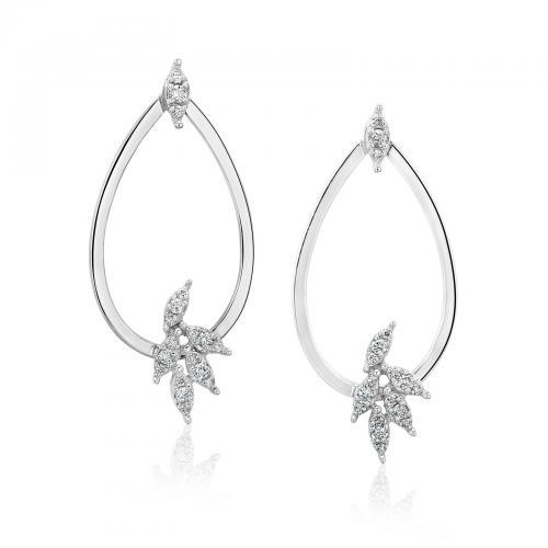 עגילי יהלומים ED013