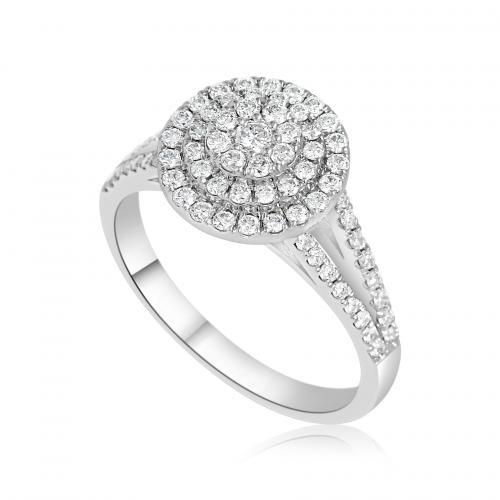 טבעת יהלומים שיבוץ מיוחד