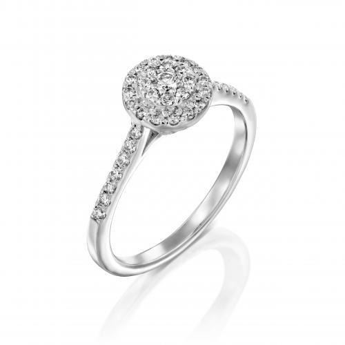 טבעת יהלום אירוסין A034
