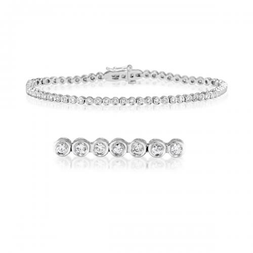 צמיד טניס יהלומים bd005