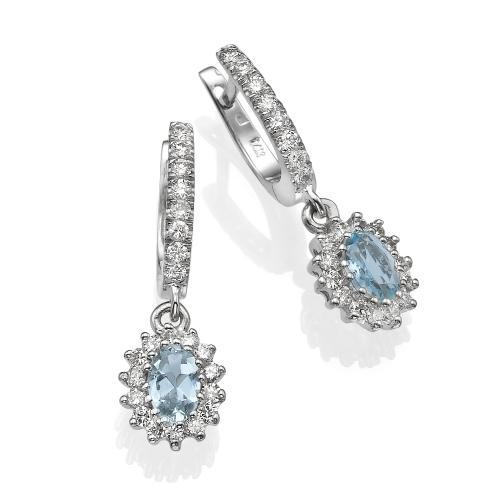 עגיל יהלומים אקו מרין