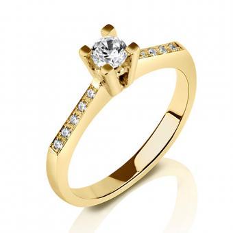 טבעת יהלום קלאסי מעוצב