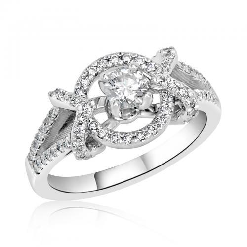 טבעת יהלום אירוסין A022