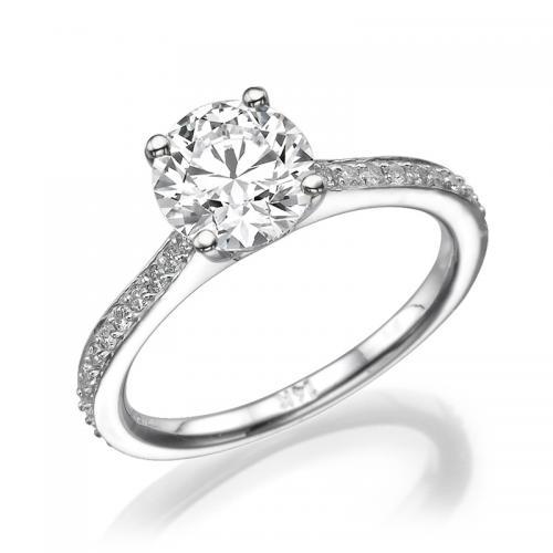 טבעת יהלום אירוסין - ברשיב