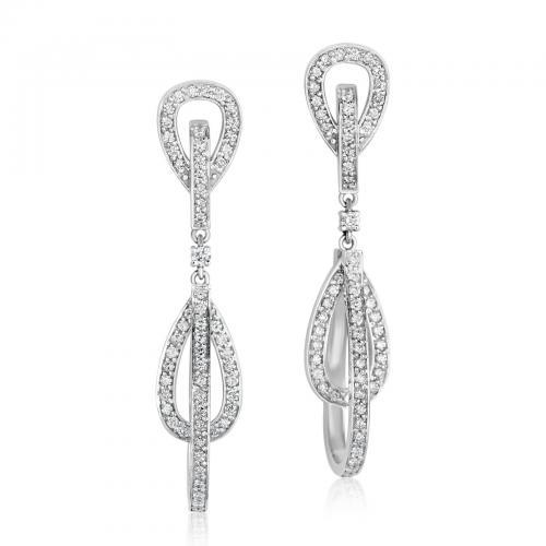 עגילי יהלומים ED020
