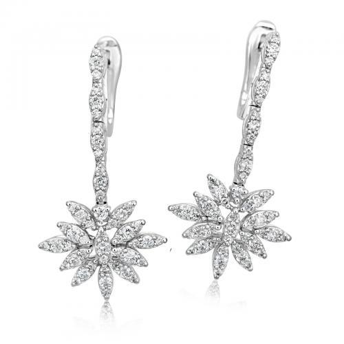 עגילי יהלומים ED018