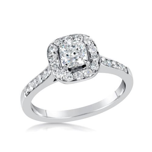 טבעת יהלום בחיתוך קושן