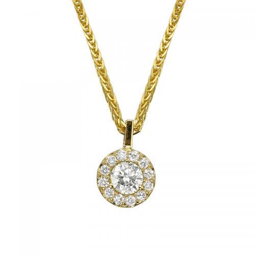 תליון יהלומים - סיינה