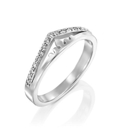 טבעת יהלומים מעוצבת RDR034